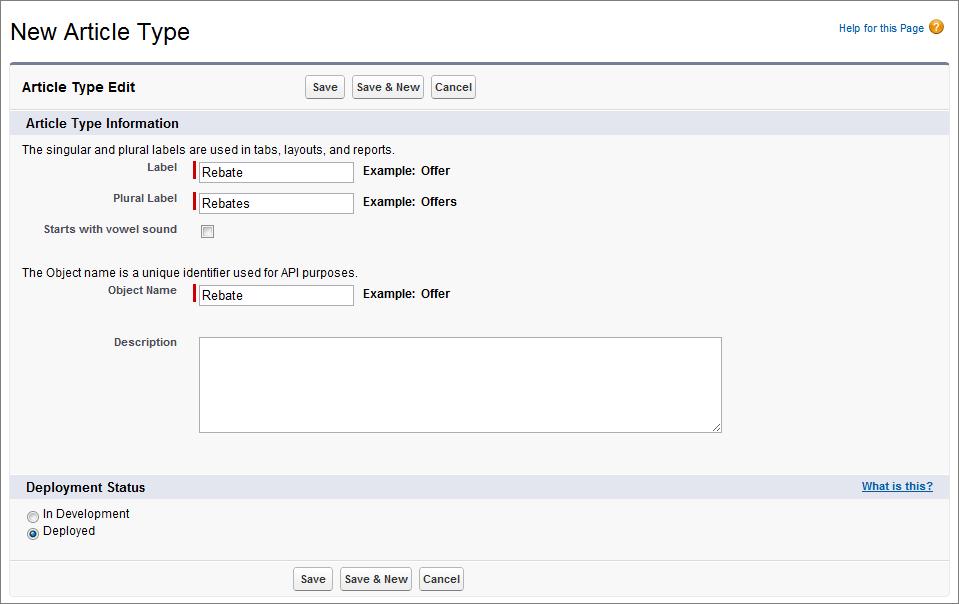 step 1 create article types service cloud workbook