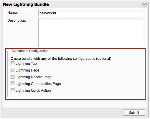 New Lightning Bundle Panel