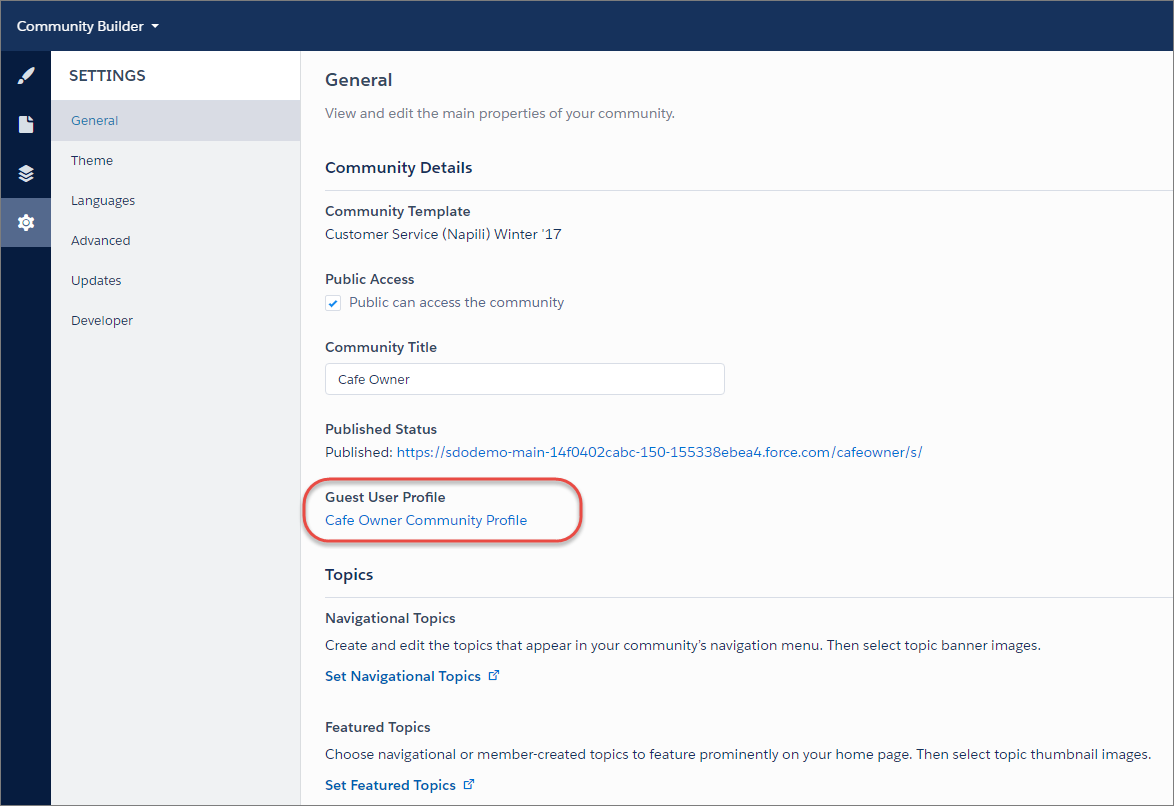 Configure the Guest User Profile for Unauthenticated Users | Using ...