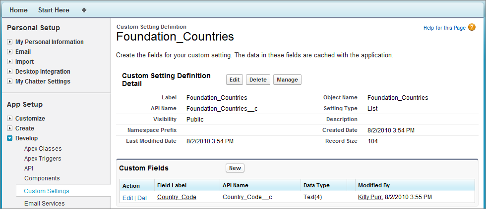 custom settings methods | apex developer guide | salesforce developers