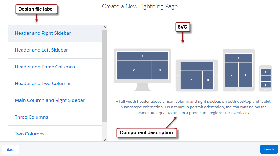 Create A Custom Lightning Page Template Component Lightning