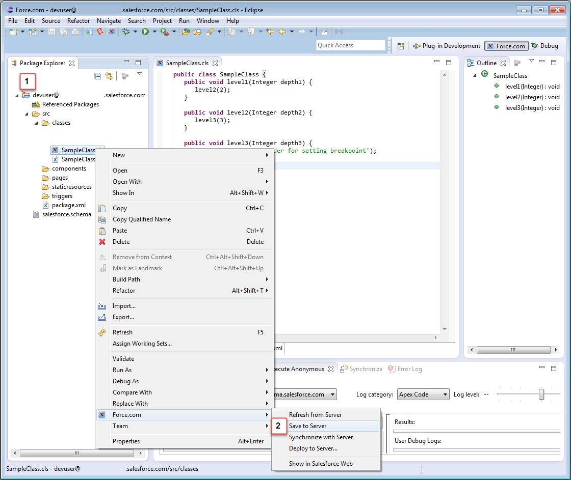 Test Your Debugger Setup   Force.com IDE Developer Guide   Salesforce  Developers