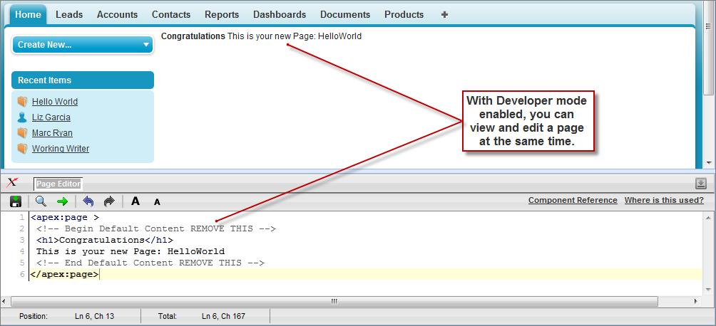 Documentation developer. Salesforce. Com guide shows errors.