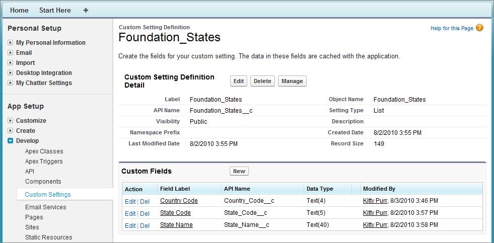 Custom Settings Methods | Apex Developer Guide | Salesforce
