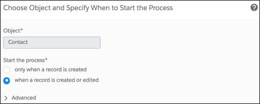 Associate Actions to Records with Process Builder