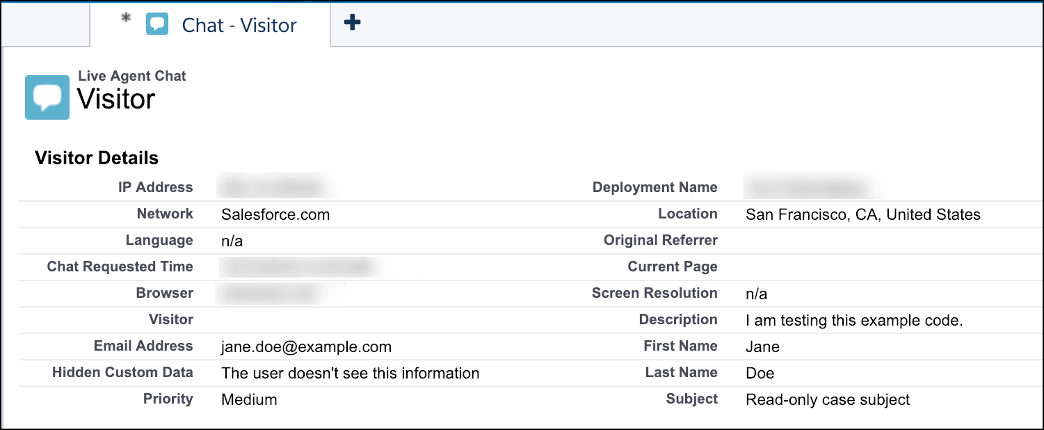 Show Pre-Chat Fields to User | Embedded Service SDK for