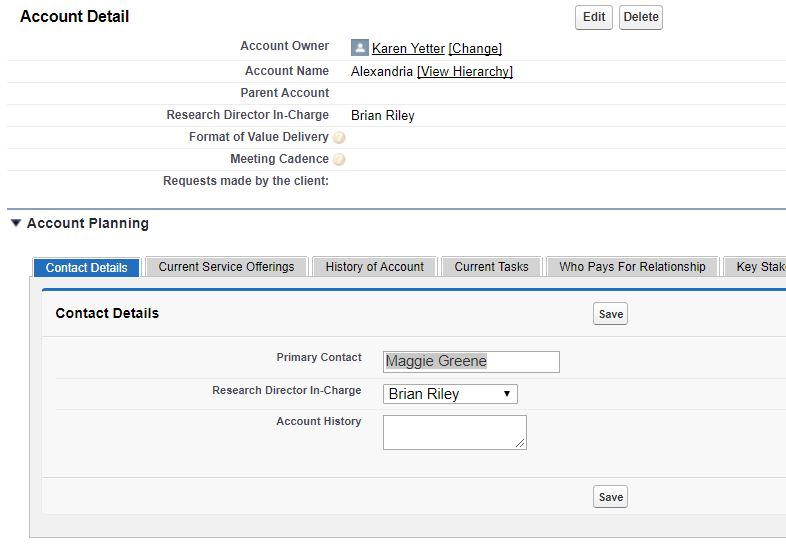 Visualforce section returns entire page on Save - Salesforce
