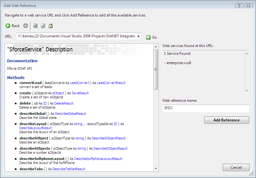 What is the URL for the salesforce API calls? - Salesforce