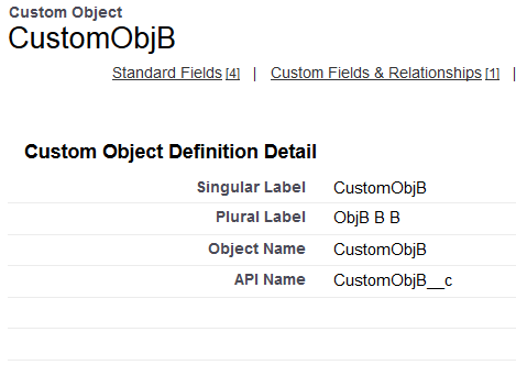 custom object (child) and stand obj (parent )query