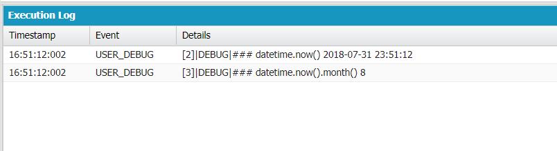 Datetime now() month() behaving weird  - Salesforce Developer Community