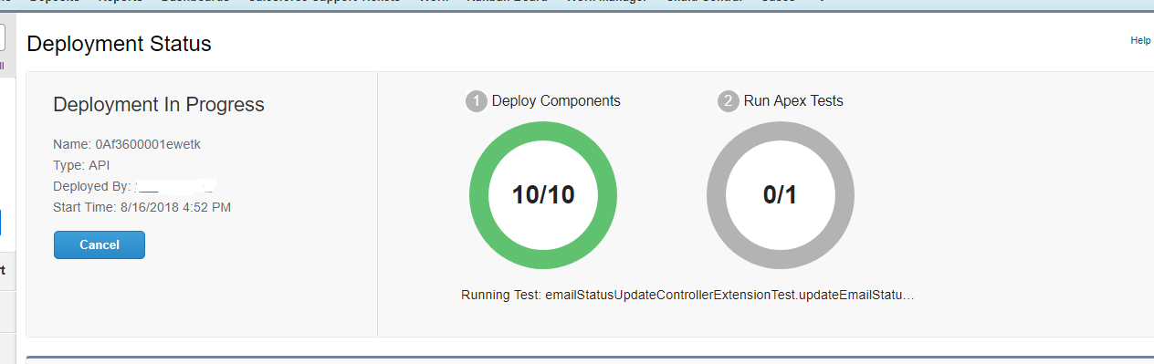 Deployment with single Apex test taking 15+ minutes to even