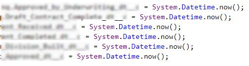DateTime fields not populating correctly via Apex - Salesforce