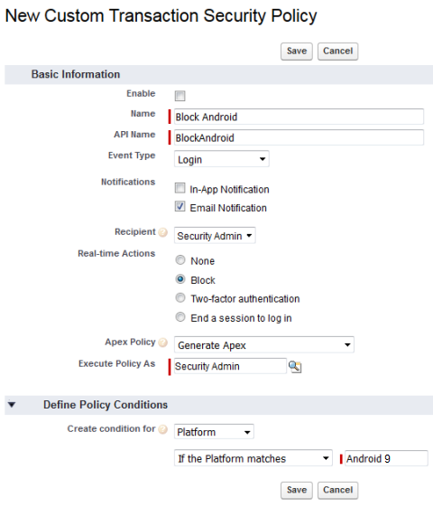 Create Transaction Security Policies unit  Can't pass challenge