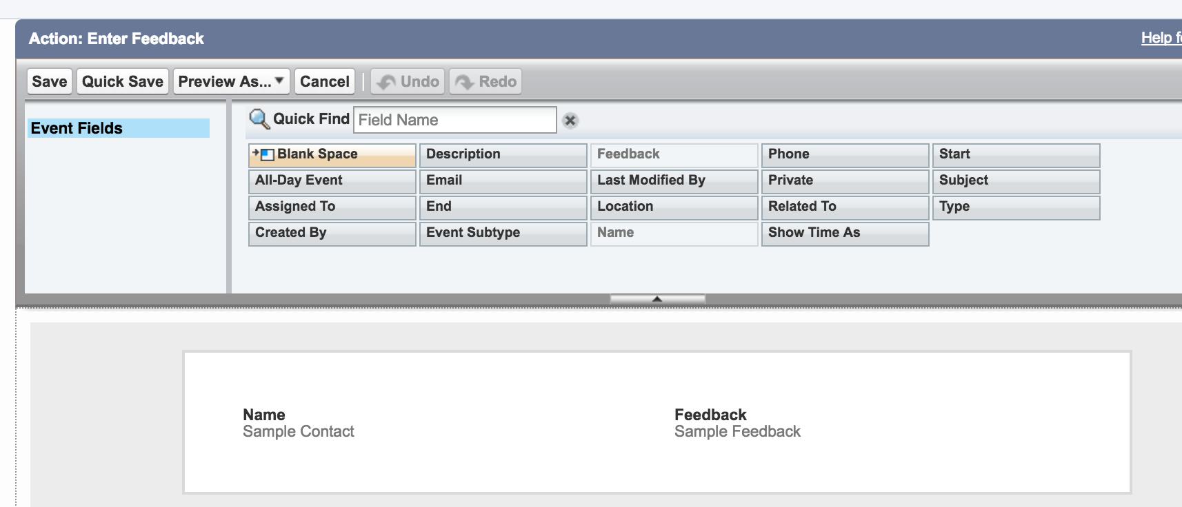Create Object-Specific Quick Actions Failing - Salesforce Developer