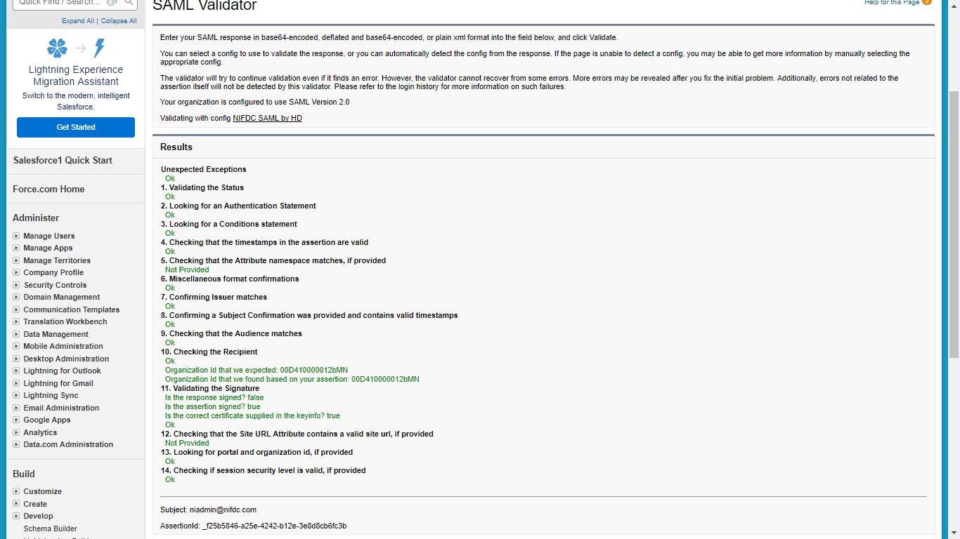 SSO through SAML Assertion Flow implementation - Salesforce