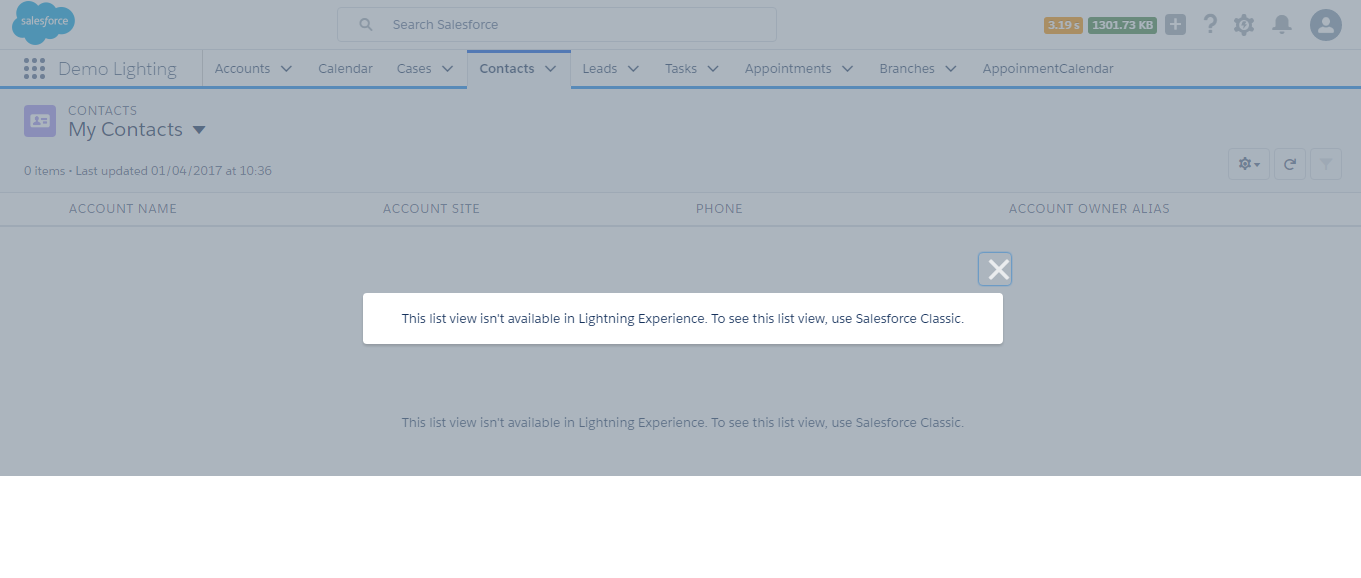 This list view isn't available in Lightning Experience  To see this