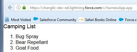 camping list lightning component salesforce developer community