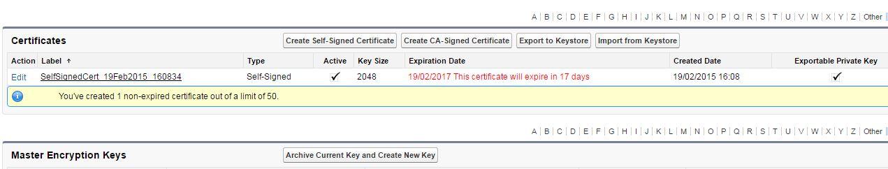Certificate and key management? - Salesforce Developer Community