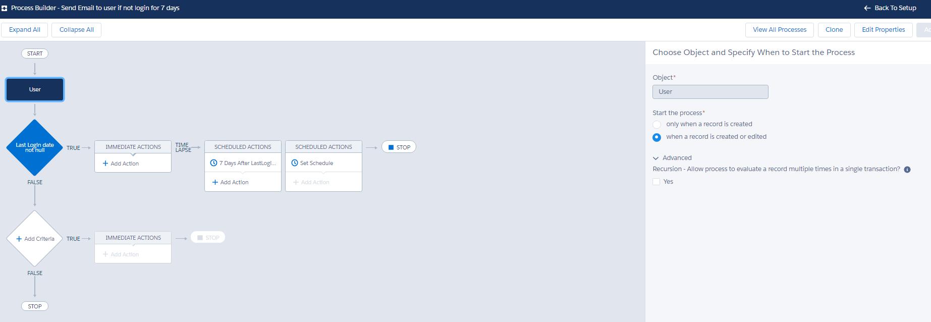 Use process builder for sending user-based email alert on