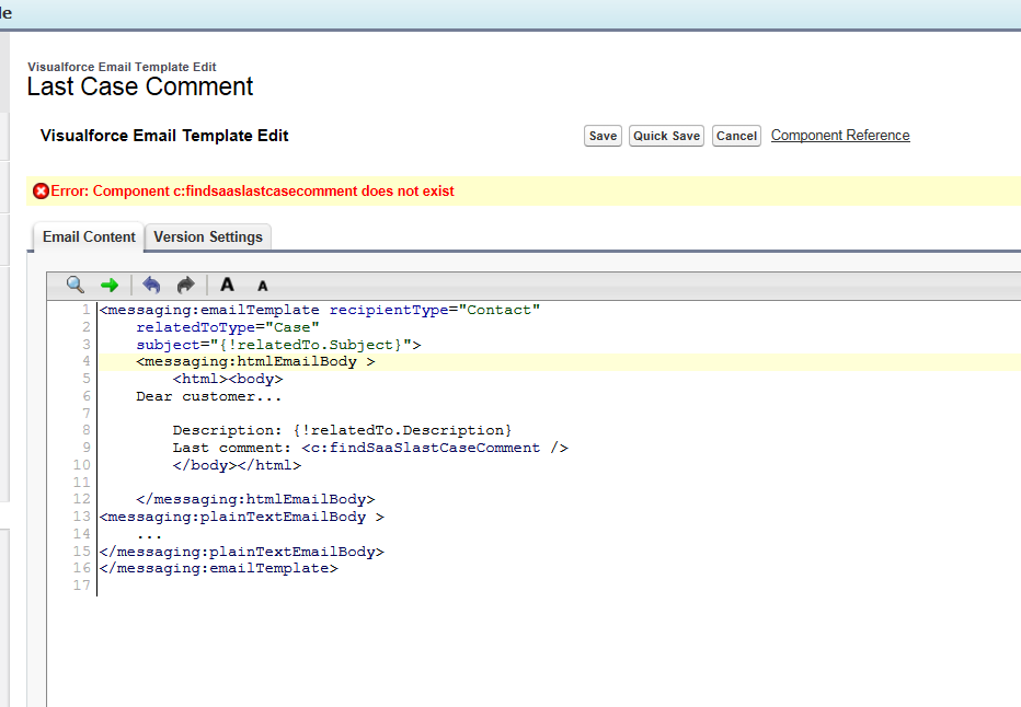 Email Last Case Comment Help With Code Salesforce Developer