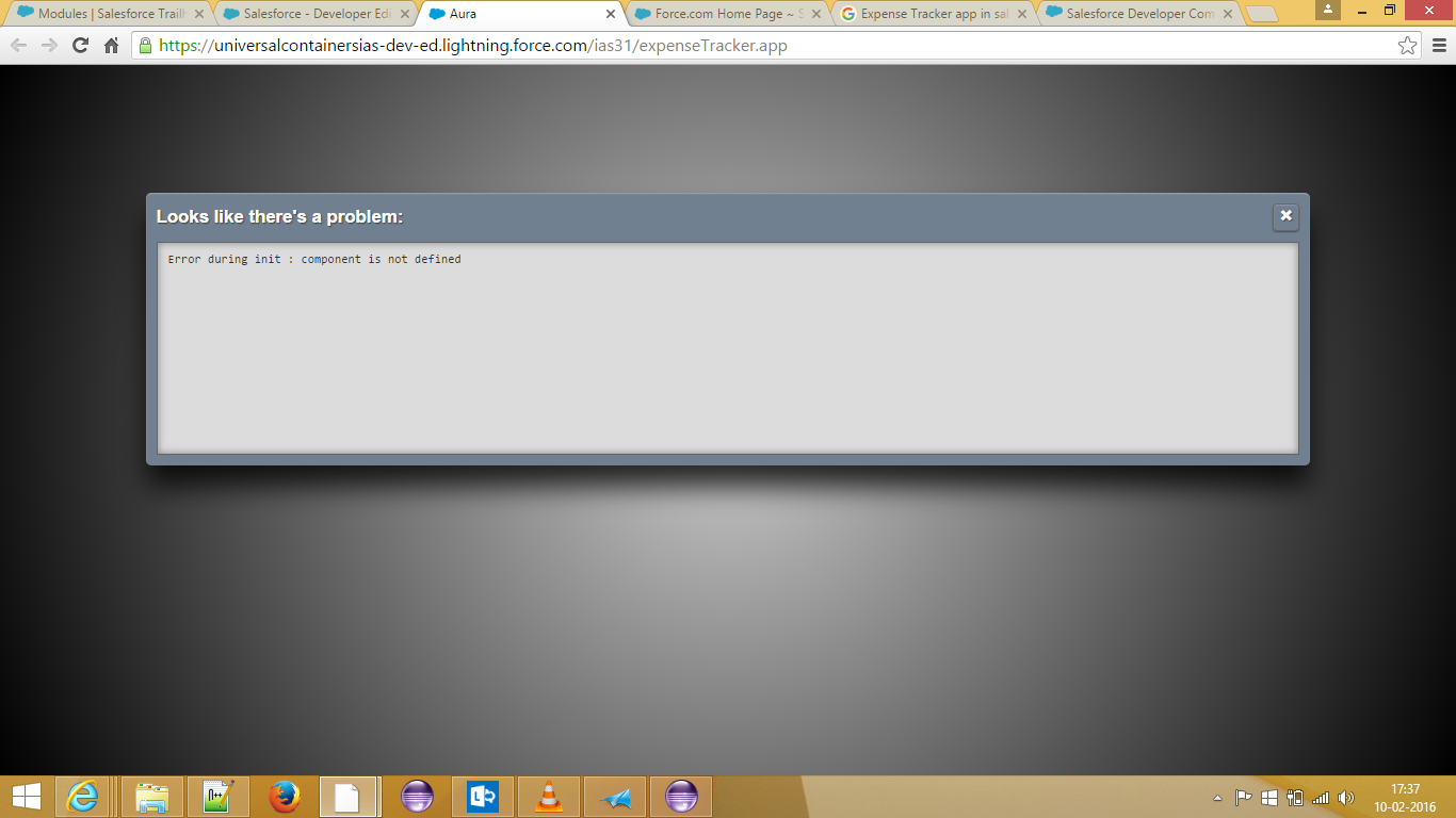 I am getting error while priview Expense Tracking App which