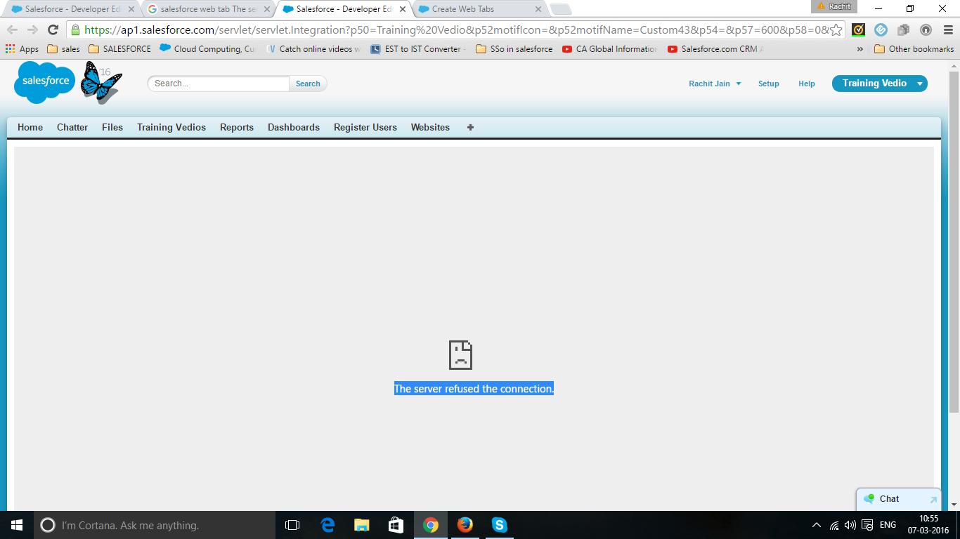 Web tab Not showing website? - Salesforce Developer Community