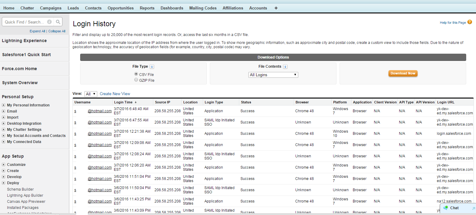 IdP initiated SSO with SalesForce - Login History shows ...