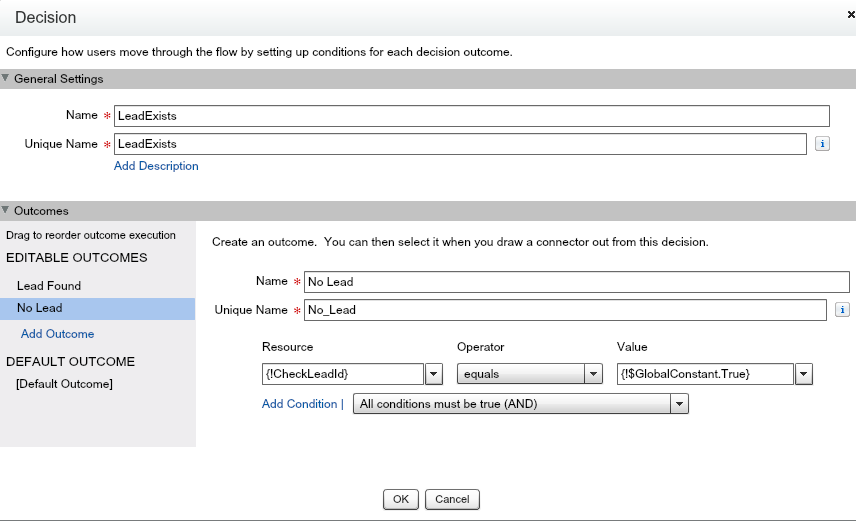 Check for Null values for ID in Visual workflows - Salesforce