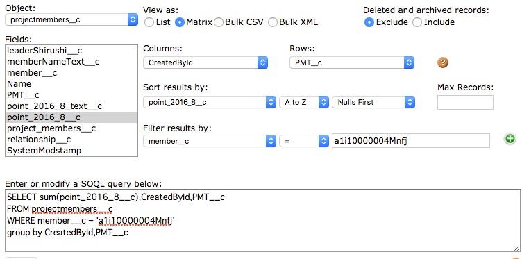 VisualforceページにMatrixを表示するには - Salesforce