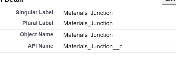 Materials Junction Object API
