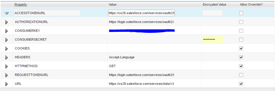 Help setting up OAuth for the Salesforce REST API