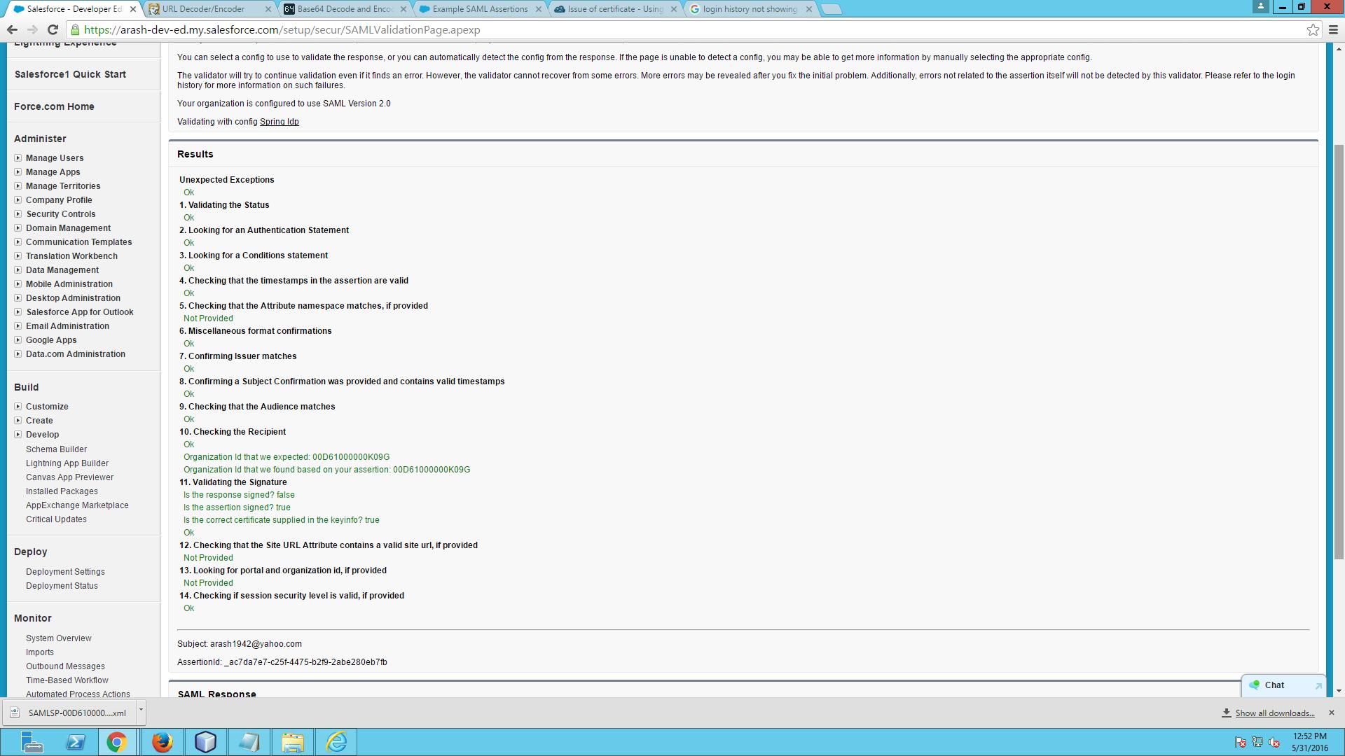 SAML Idp Login issue - Salesforce Developer Community