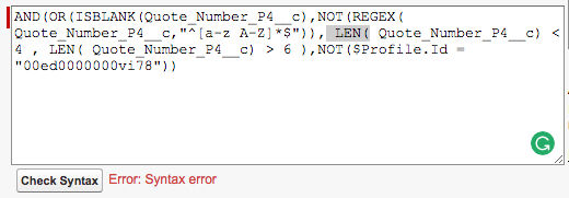 Validation Rule to input numeric values only on a text field
