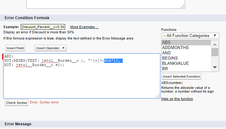 Validation to only allow whole numbers - Salesforce