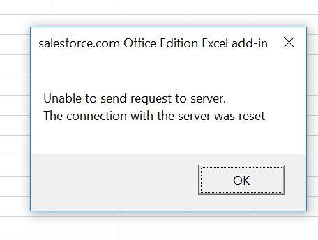 Excel 2016 - SF Connector - Salesforce Developer Community