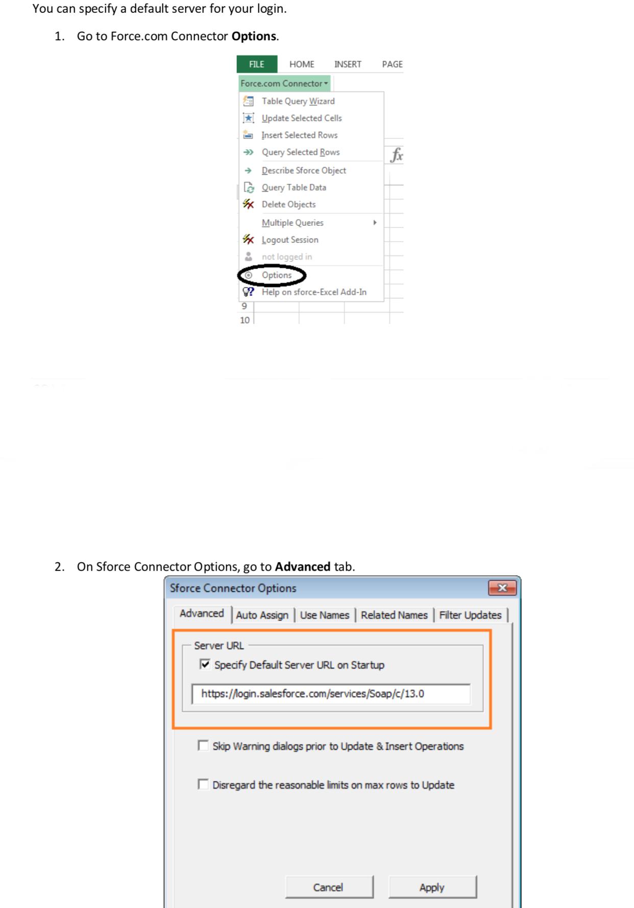 Excel Connector error 5103 - Salesforce Developer Community