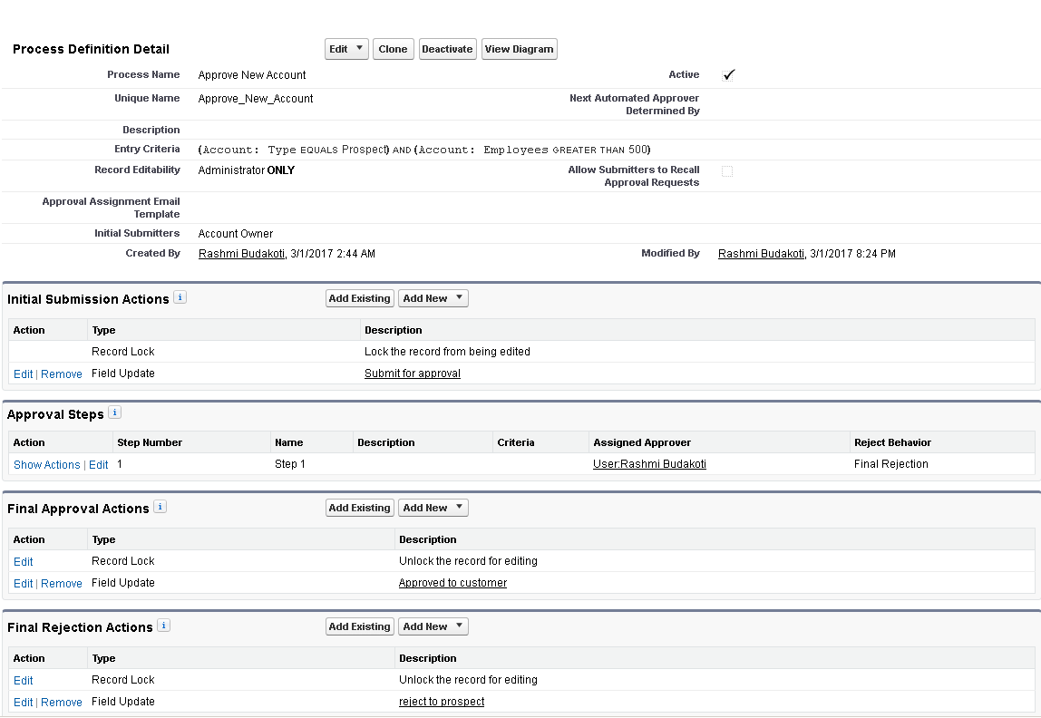 how to find any pending approval processes salesforce