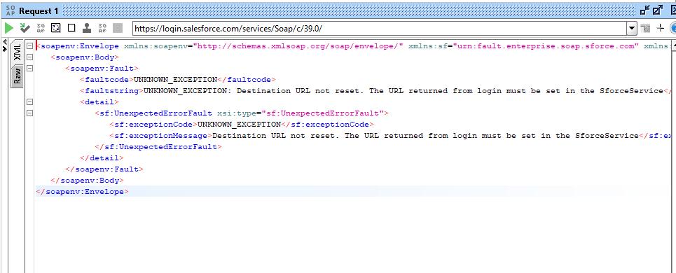 Destination URL not reset  The URL returned from login must