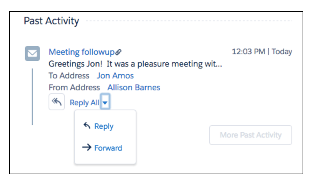 How to enable Reply to and Forward Emails Right from