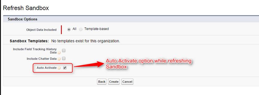 Activate button after refreshing the sanbox - Salesforce Developer ...