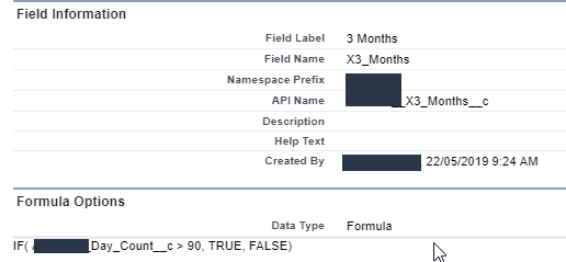 Checkbox depending on the difference between 2 fields and if