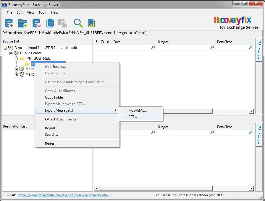 Exchange Server Recovery - Salesforce Developer Community