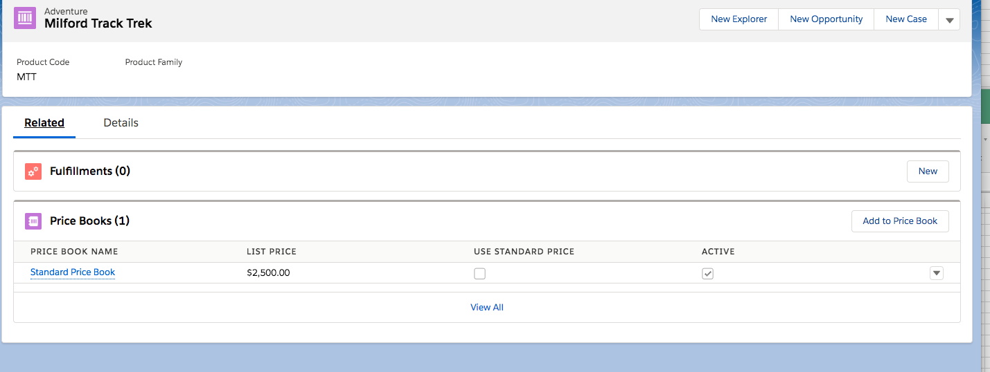 SS of Pricebook Example