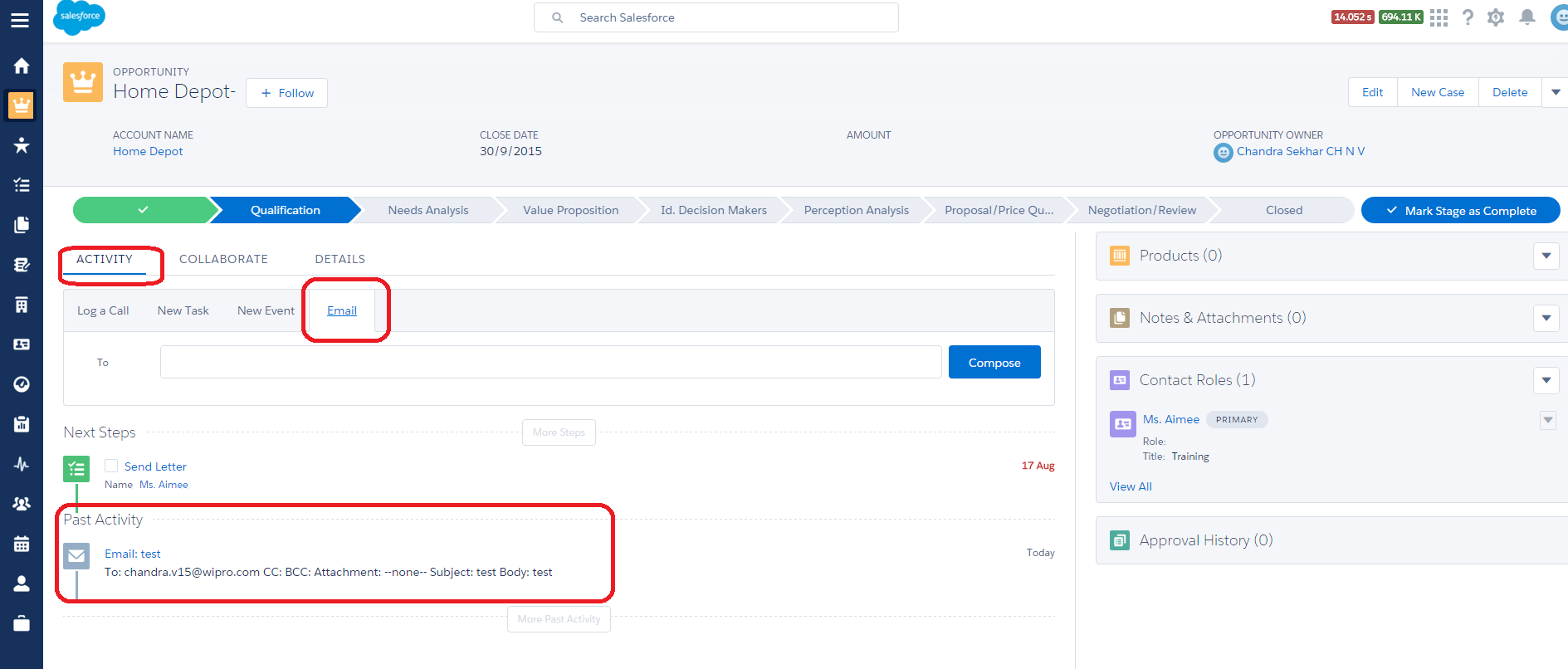 Email and Log Call Missing in Lightning - Salesforce