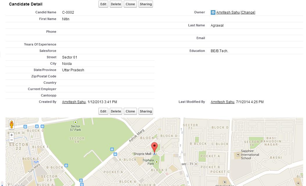 Adding a Google Map to a Custom Object - Salesforce