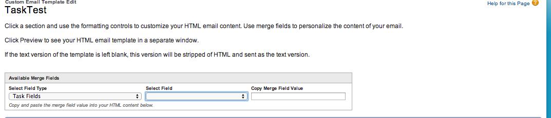 Task Merge Fields In An Email Template Salesforce Developer Community