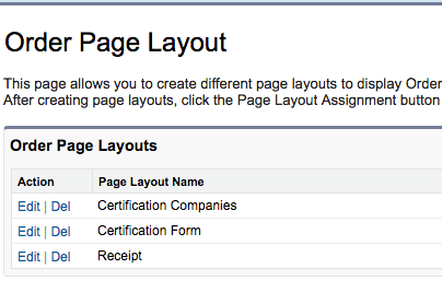Orders/Certification tab page layouts