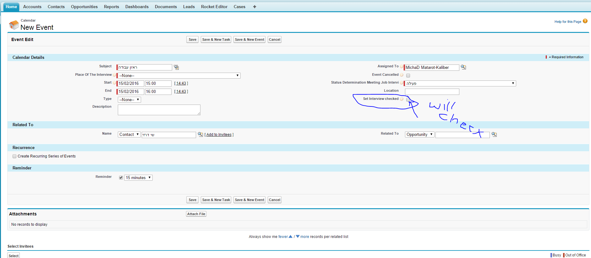 Can't updatep filed of Event on Process-builder - Salesforce