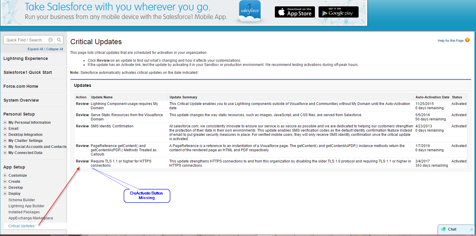 unknown exception: Destination URL not reset  The URL