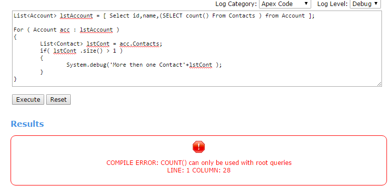 How to query the count of child record - Salesforce